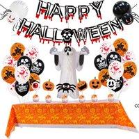 Halloween Pumpkin Ghost Globo Set Spider Foil Globos Celulares Decoración de Halloweens Decoraciones Home Festive Fiesta Suministros DHE8586