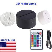 3D-nachtlampje, 16 kleurverandering decoratie verlichting, touch usb laadtafel bureaulamp met afstandsbediening, geschenken speelgoed voor kinderen kinderen jongens, meisjes, baby