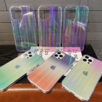 High transparency rainbow aurora phone cases for iphone13 pro max 12 min 11 X XR XS 7 8 plus SE case cover