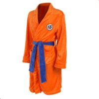 Theme Costume Adult Children Bathrobe Anime Cosplay Costume Goku Kakarotto Bath Robe Sleepwear Pattern Plush Robe For Women Men Kids Boy