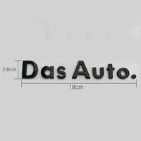 Capital Upper Case and Lower Cast Letters Emblem for Volkswagen Das Auto. Car Styling Golf CC Sagitar Magotan Trunk Logo Sticker