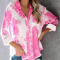 Women Tops Blouses 2021 Autumn Elegant Long Sleeve Print V-Neck Chiffon Blouse Female Work Wear Shirts Plus Size 2XL Women's &