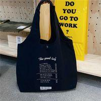Louis Vutton BagSimple Belted Women Shopping Handbags Casual Large Capacity Female Shoulder Vest Tas Student Girls Reusable Canvas Book DeadDesigner Bags