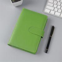 Kolorowe Kreatywne Wodoodporne Macarons Spoiwa Ręcznie Ledger Notebook A5 / A6 Shell Loose-Leaf Notatnik Pamiętnik Papierniczy Okładka Dla Uczeń 525 V2