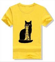 Black Cat Tower Print Женщины футболка с коротким рукавом O шеи Свободные летние Tee Tops Одежда CamiSetas Mujer