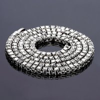 Fashion Charm Gifts Hip Hop Iced Out Rhinestone Tennis Chain Necklace Bling Jewelry For Man Women Chains