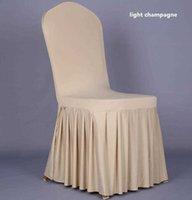 Pleated 치마 스타일 의자 덮개 덮개 덮개 고품질 의자 스커트 보호기 슬립 커버 장식