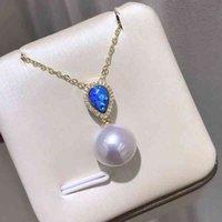 Ожерелья Meibapj 10mm Круглый настоящий натуральный пресноводный жемчужный ретро кулон ожерелье 925 стерлингового серебра для женщин