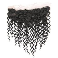 Water Wave Frontal Pre Plucked 13X4 Lace Frontals Closure With Baby Hairs Free Part Brazilian Human Hair Extensions