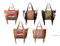 Leopardo Fringe Messenger Saco Listrado Patchwork Borla Crossbody Bags Mulheres Hippie Borls Bolsa FWD10097