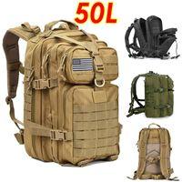Outdoor Bags 50L Large Capacity Men Army Military Tactical Backpack 3P Softback Hiking Camping Rucksack Hunting Travel Bag