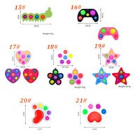27 Styles PoP Finger Simple Dimple Sensory Toys Push Bobble Fidget Spinner Top Decompression Toy For Kids and Adults Party Favor Gifts Keychain