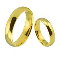 Atmosphere Fashion Couple Wedding Clear Smooth Surface, Arc Spherical Pair Ring, Tail Ring for Men and Women