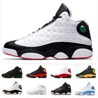 13s Баскетбольная обувь Чистые деньги Призрак Playoffs Black Cat у него есть игра Город рейсов кроссовки