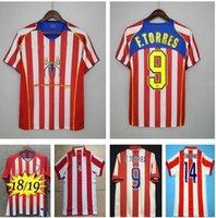 Atlético Madrid 2003 2004 2005 Retro Jerseys de fútbol 18 19 F.Torres Inicio Rojo Blanco 04 05 Vintage Camiseta de Futbol Classic Classic Football Shirt