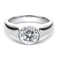 Cluster Rings Luxury 925 Sterling Silver Ring Diamond Test 2 8mm Moissanite Wedding Women Sparkling Engagement Lover Gift Fine Jewelry