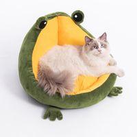 Kennels stylos chat chat maison mignon confortable mat lits chaleureux portables portables panier portable chenil chien coussin fournitures multicolores
