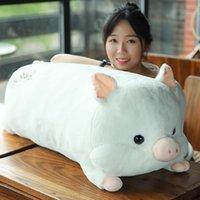pig kawaii pink dolls super girl big cute toy piggy gift DY50337 stuffed sleeping pillow for baby 35inch 90cm plush Rgjfs