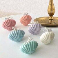 3D Seashell Shell Bougie Silicone Moules de décoration de gâteau Outils de décoration durable Plastique Saint-Jacques de pétoncles DIY Craft Fondant Moules