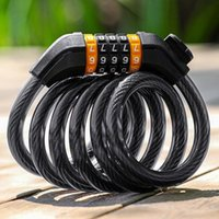 Bike Locks 1.2 1.5m Mountain Password Lock Road Bicycle Four-digit Code Anti-theft Wire Cable Chain Cycling Accessory