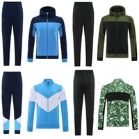 21 22Manchester Soccer Tracksuit City Pull Football Veste à capuche 2021 Hommes Sportswearde pied