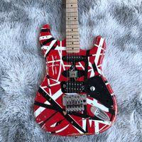 Eddie van Halen Frankenstrat Guitare électrique, rayé rouge Frankie Guitare Frankenstein No Logo MAHOGANY BOOD Corps