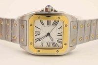 أعلى مصمم الرجال ووتش سانتو WSSA0018 رجل التلقائي الميكانيكية ووتش الأبيض الهاتفي الياقوت الزجاج الفولاذ المقاوم للصدأ حزام ساعة اليد الفاخرة