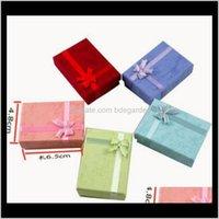Cajas Mostrar Drop Entrega 2021 Encantos Beads Caja de regalo Embalaje para colgantes Collares Pendientes Anillos Pulseras Joyería 4ks2y