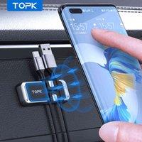Topk Manyetik Araba Telefonu Tutucu Standı iphone 12 Pro Max Mıknatıs ile Tel Klip Evrensel Hücre Desteği