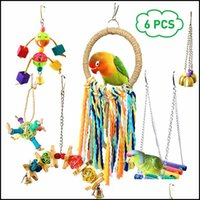 Other Supplies Home & Garden6Pcs Pet Parrot Toys Set Funny Assorted Bite Resistant Bird Cage Colorf Swing Hanging Ring Chew Toy Vogel Speelg