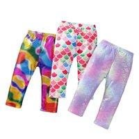 Girls Leggings Baby Pants Tights Children Wear Mermaid Trousers Summer Kids Clothing Long 2-7Y B5172