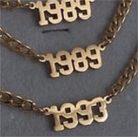 1980-2010 Numéro d'année Numéro Anklets Bijoux Bijoux En acier inoxydable Bracelets de cheville Rose Or Couleur Anklet pour femme Cadeaux 1254 Q2