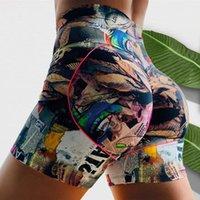 30 # 2021 Seksi Kadınlar Moda Baskı Kalça Kaldırma Fitness Kravat Boya Legging Rahat Kısa Pantolon Leggins Mujer Kadın Tayt