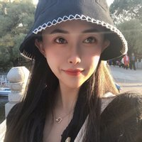 Hats Bucket Hat 2021 Spring and Summer Temperament Fashion Fisherman's Female Sewing Personality Sunshade Buet Hat{category}