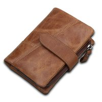 Leather Men's RFID Layer Money Hot Clip Cowhide First Short Wallet Emgah Brush Wallet Cross-border Style Wallet Anti-theft Beauty Whhx