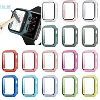 360 Full Cover PC Cases Tempered Glass Anti-Scratch Film Screen Protector For Apple Watch Series SE 6 5 4 44mm 40mm iWatch 3 2 1 42mm 38mm With Retail Package