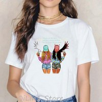 Graphic Girls Matching Outfit Women Tops Tee Friends Fashion Family Couples Clothing Summer Sister 90S Shirt