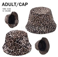 Leopard Color Bucket Hat Folding Fisherman Hats Sun Street Outdoor Sports Tide Cap Spring Fall Summer DB774