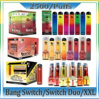 Bang Pro Max Anahtarı XXL Duo Tek Kullanımlık Elektronik Sigaralar 2 1 Cihaz 8ml Pods 1100mAh 2000 Puffs Vape Kalem Fabrika Toptan