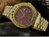 Mens Big Diamonds famosi orologi automatici completi in acciaio inox le donne luminose orologio da orologio da polso classico Reloj de Lujo