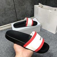 2021 Paar Mode Slipper Getriebe Bottoms Herren Gestreifte Sandalen Kausale rutschfeste Sommer Huaraches Hausschuhe Flip Flops Qualität mit Box