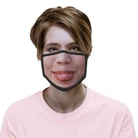 2021 Reusable Washable Funny Fashion Face Mask 3D expression Emotions Personality Masks Dustproof Haze-proof Breathable Party masks 637 R2