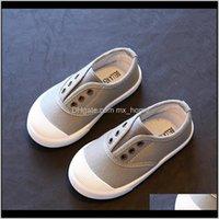 Niños de verano de primavera para niños Plantilla de niñas 13518cm Color de caramelo Color Childrens Casual Lienzo Zapatillas de moda suave 201201 MXA83 RJVQI