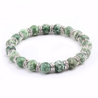 Fashion Classic Natural Stone Bracelets 5 Style Crystal Green Beads Bangles Men And Women Bracelet Stretch Yoga Jewelry Gift Charm