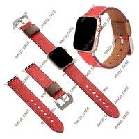 Fashion Designer Pelle Cinturino in silicone Smart Cinghie per Apple IWatch 1 2 3 4 5 6 38mm 40mm 42mm 44mm con bellissimi pattens 1214