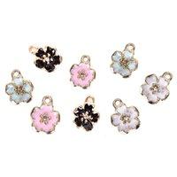 Charms 10 stücke Emaille Legierung Blume Blüte Öl Drop Anhänger DIY Armband Halskette Anklet Findings Schmuckherstellung Handwerk