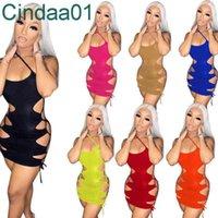 Женские платья дизайнер тонкие сексуальные короткие платья без рукавов в глухой клубной одежде темперамент многоцветный ночной клуб стиль 7 цветов