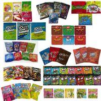 Sacs d'emballage EDIBLES VIDE JOLLY RANCHER 600MG Warkheads 600mg Gummi Candy Mylar Sac Soux Cubes chewy médicamenteux