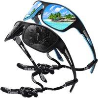 Vengom Spolaryzowane okulary sportowe dla mężczyzn rybacki jazda na rowerze baseball działa i prowadzi ochronę UV400
