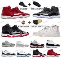 En Kaliteli Erkekler Basketbol Ayakkabıları 11 11 S BRED Concord 23 Uzay Jam 45 Concord High 45 12s Playoffs 12 Ters Taksi Sneakers Indigo Eğitmenler